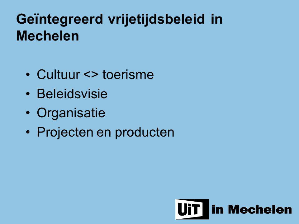 Het nieuwe organogram moet de reële werking, missie en doelstellingen van de bestaande diensten optimaal kaderen (inclusief Meeting in Mechelen en de vroegere dienst cultuurcommunicatie).