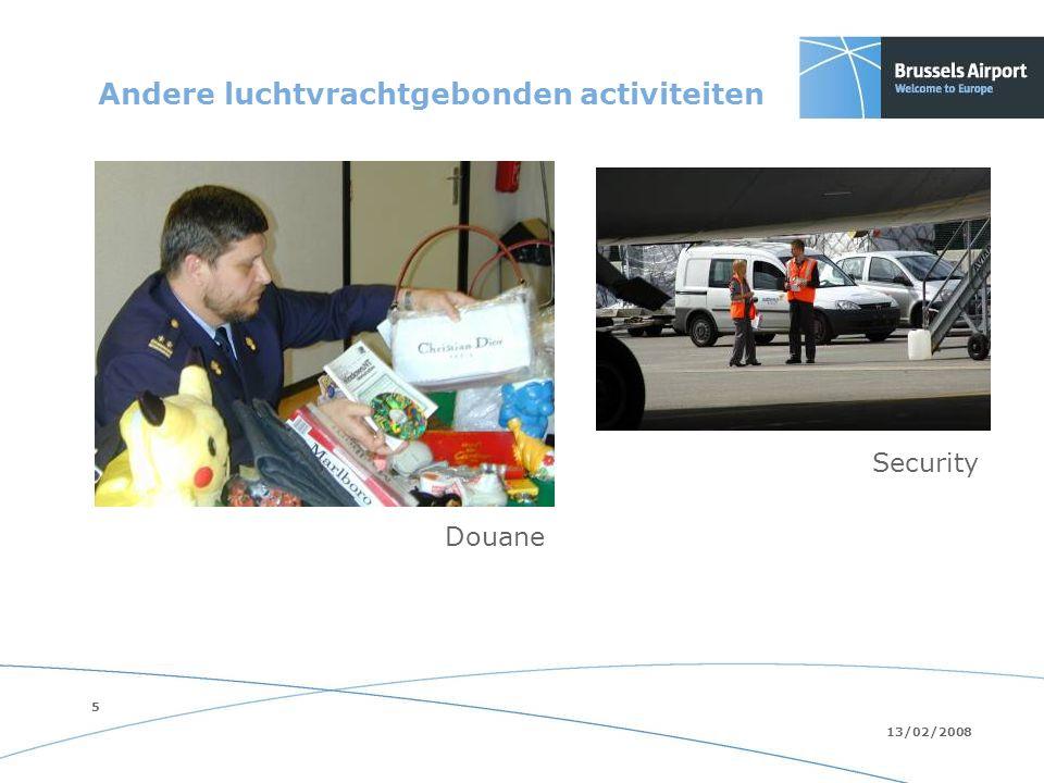 5 13/02/2008 Andere luchtvrachtgebonden activiteiten Security Douane