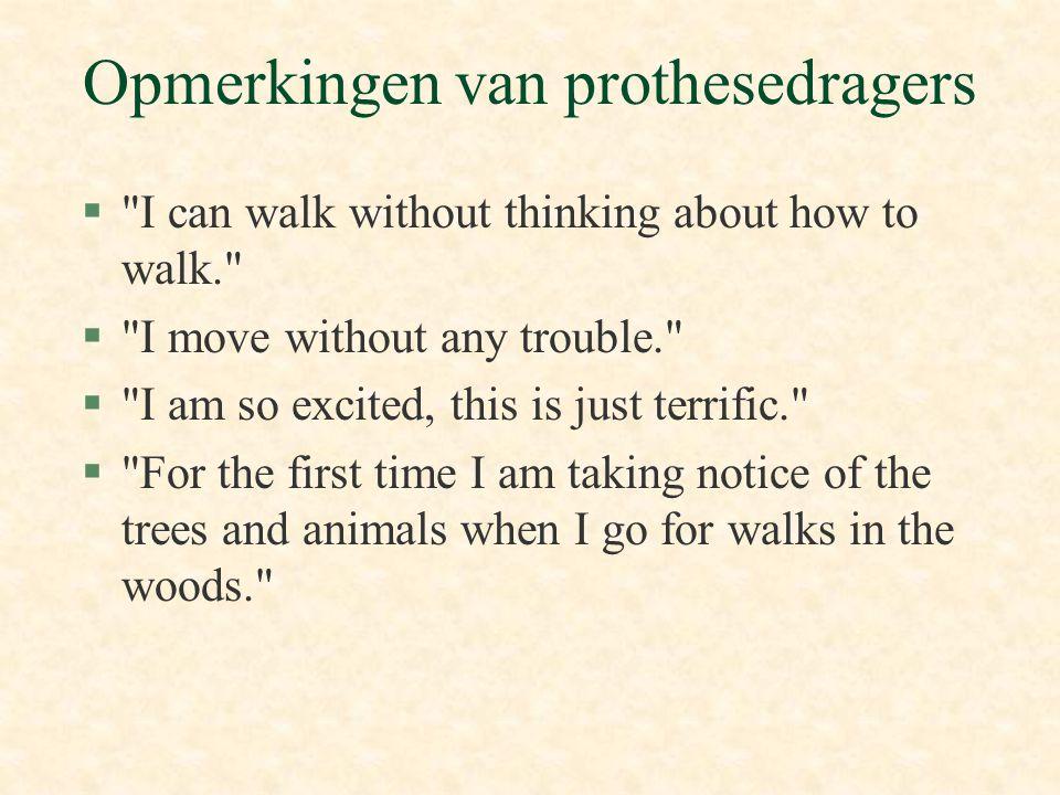 Opmerkingen van prothesedragers §