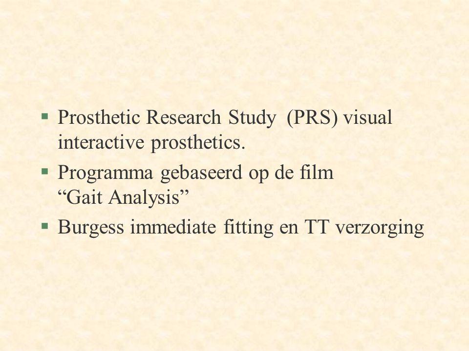 §Prosthetic Research Study (PRS) visual interactive prosthetics.