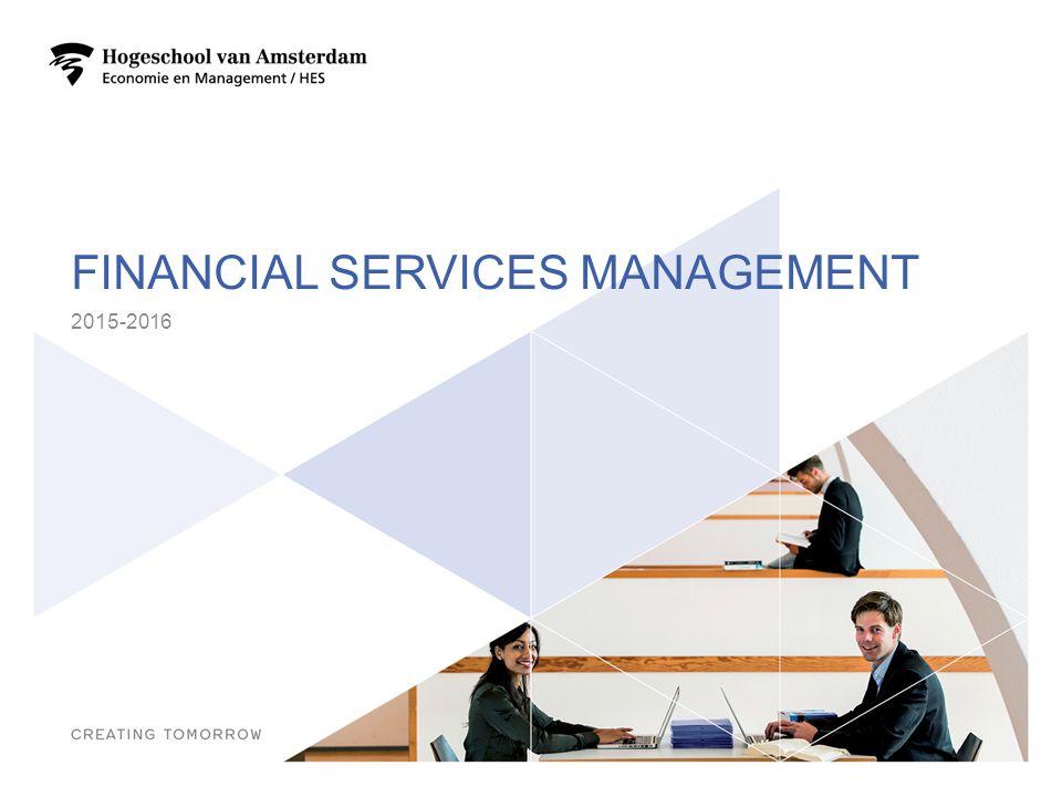 PROGRAMMA Wat kun je met Financial Services Management.