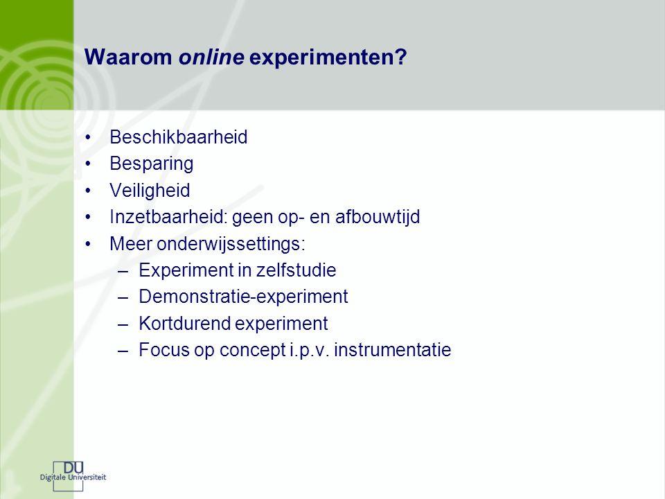 Waarom online experimenten.