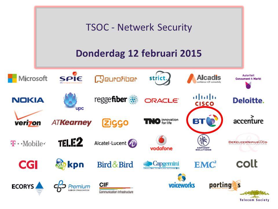 TSOC - Netwerk Security Donderdag 12 februari 2015
