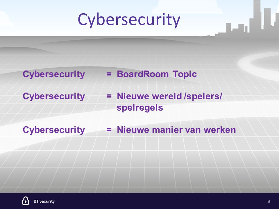 BT Security 7 Cyber War