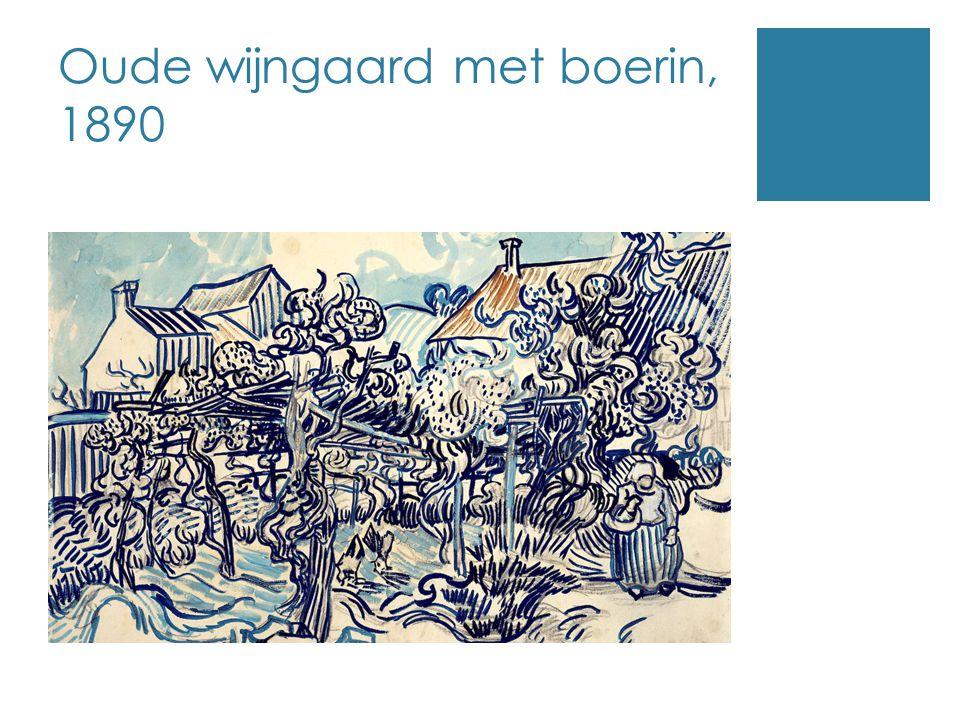 Oude wijngaard met boerin, 1890