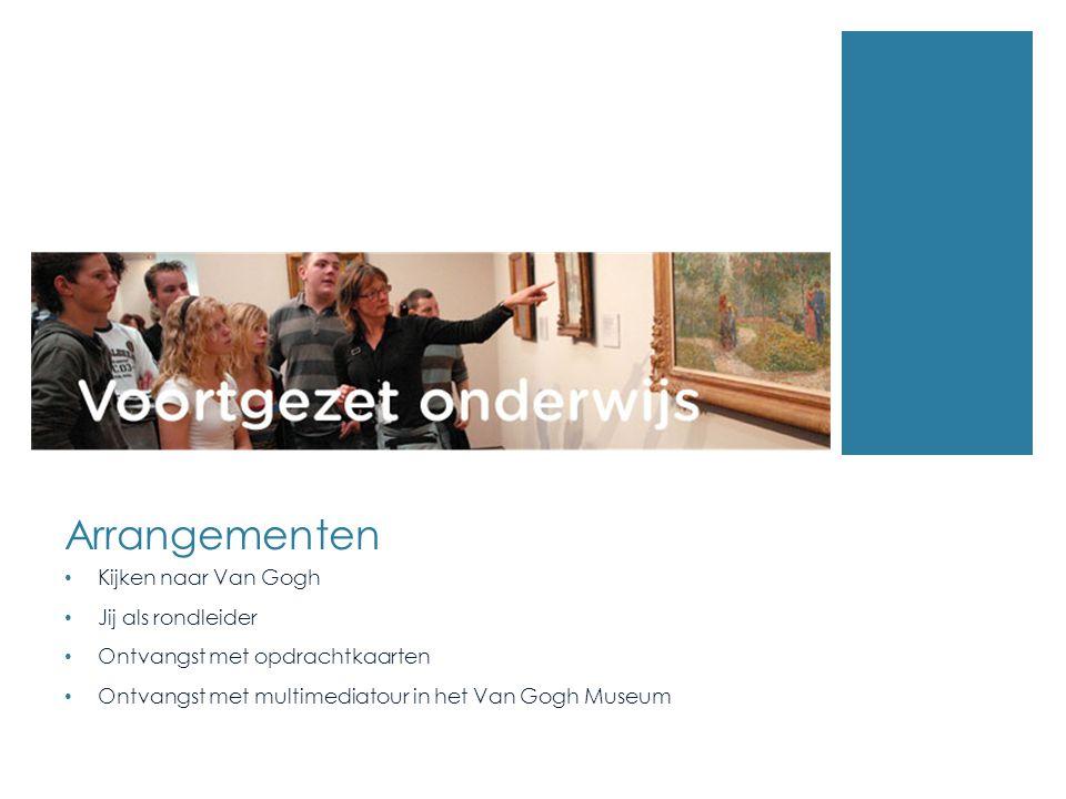 Arrangementen Kijken naar Van Gogh Jij als rondleider Ontvangst met opdrachtkaarten Ontvangst met multimediatour in het Van Gogh Museum
