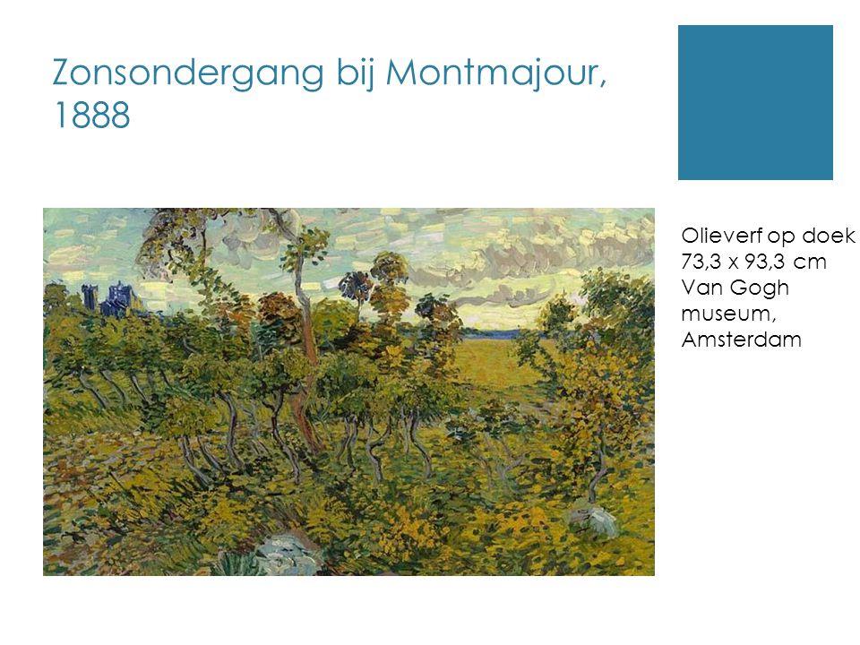 Zonsondergang bij Montmajour, 1888 Olieverf op doek 73,3 x 93,3 cm Van Gogh museum, Amsterdam