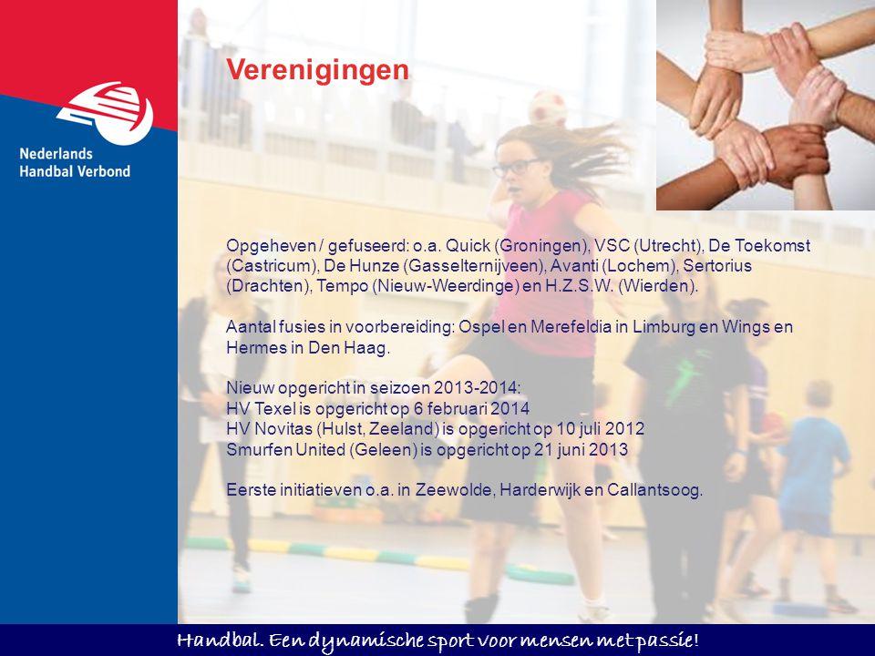 Handbal. Een dynamische sport voor mensen met passie! Opgeheven / gefuseerd: o.a. Quick (Groningen), VSC (Utrecht), De Toekomst (Castricum), De Hunze