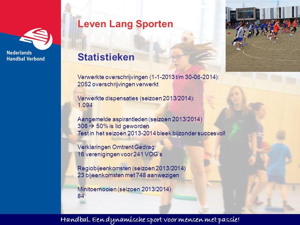 Handbal. Een dynamische sport voor mensen met passie! Leven Lang Sporten Verwerkte overschrijvingen (1-1-2013 t/m 30-06-2014): 2052 overschrijvingen v
