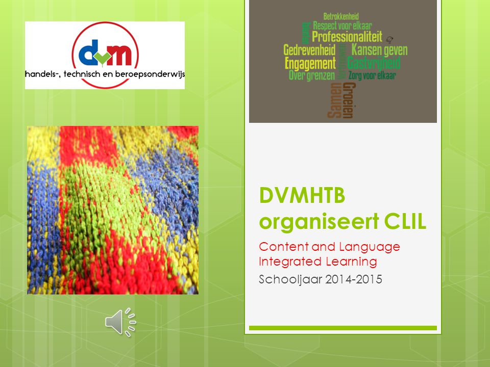 DVMHTB organiseert CLIL Content and Language Integrated Learning Schooljaar 2014-2015