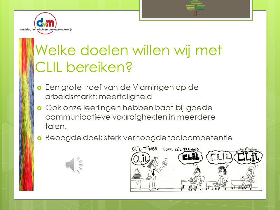 Welke doelen willen wij met CLIL bereiken.