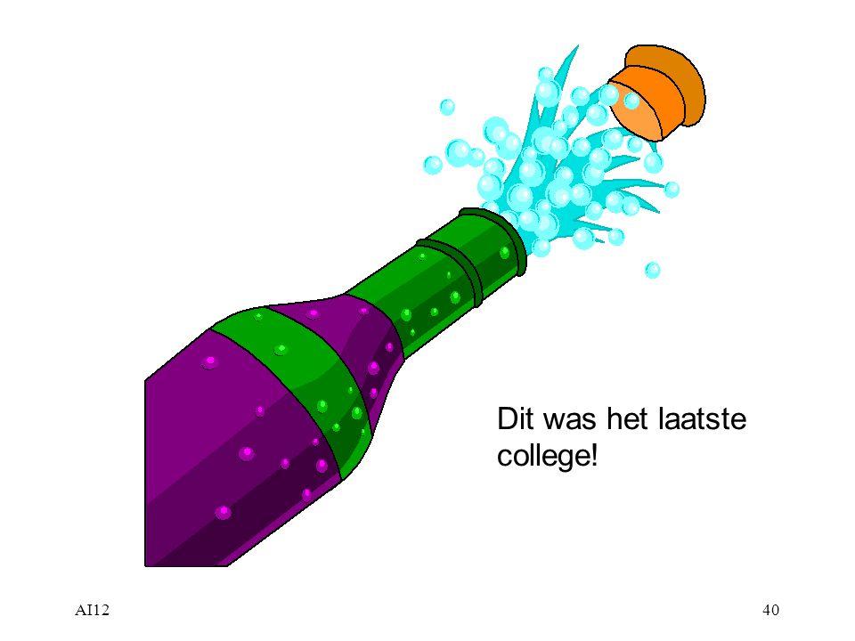 AI1240 Dit was het laatste college!