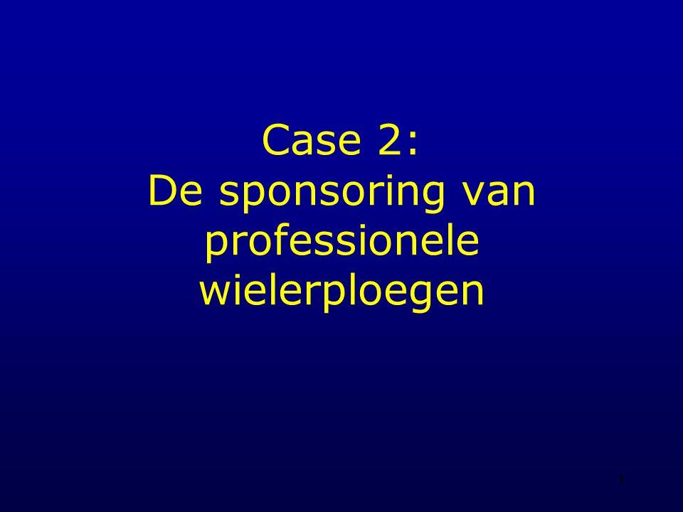 1 Case 2: De sponsoring van professionele wielerploegen