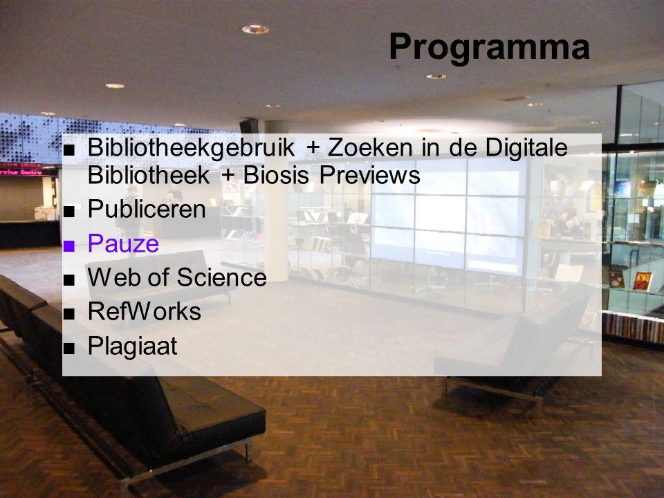Resumerend: Gebruik eenvoudig zoeken om artikelen te vinden op de bibliotheek homepage Beter: selecteer in de digitale bibliotheek het 'specifieke vakgebied' Biologie Zoek simultaan in meerdere databases tegelijk(max.