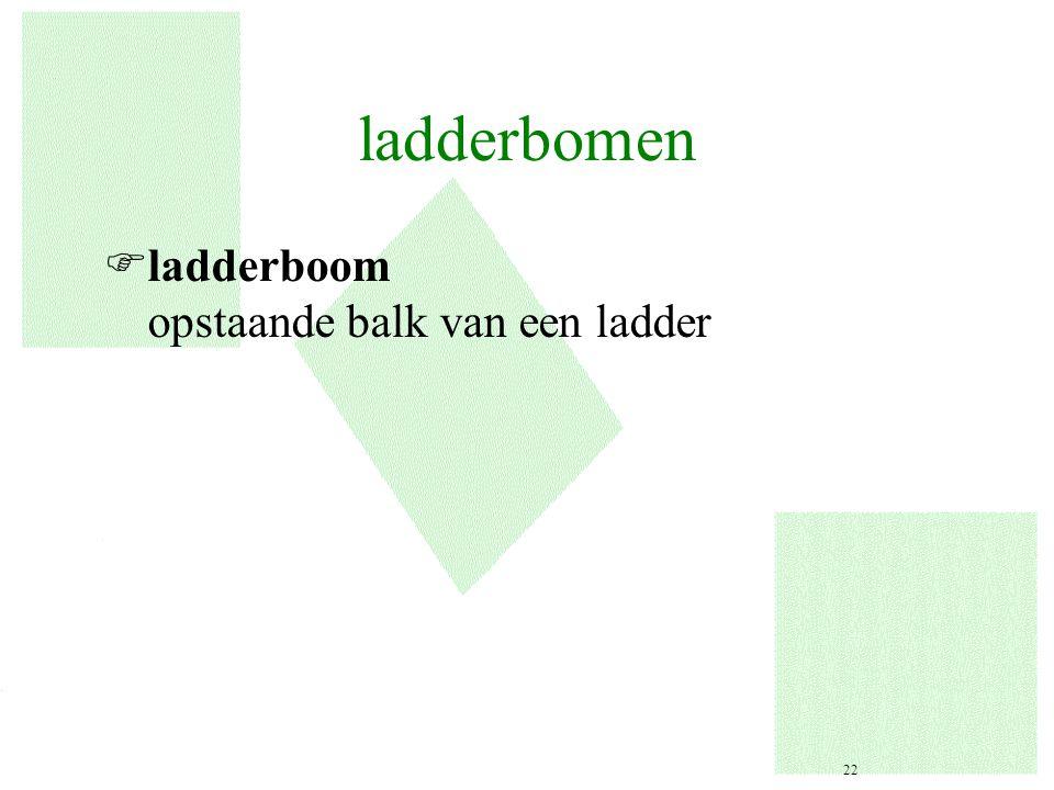ladderbomen Fladderboom opstaande balk van een ladder 22