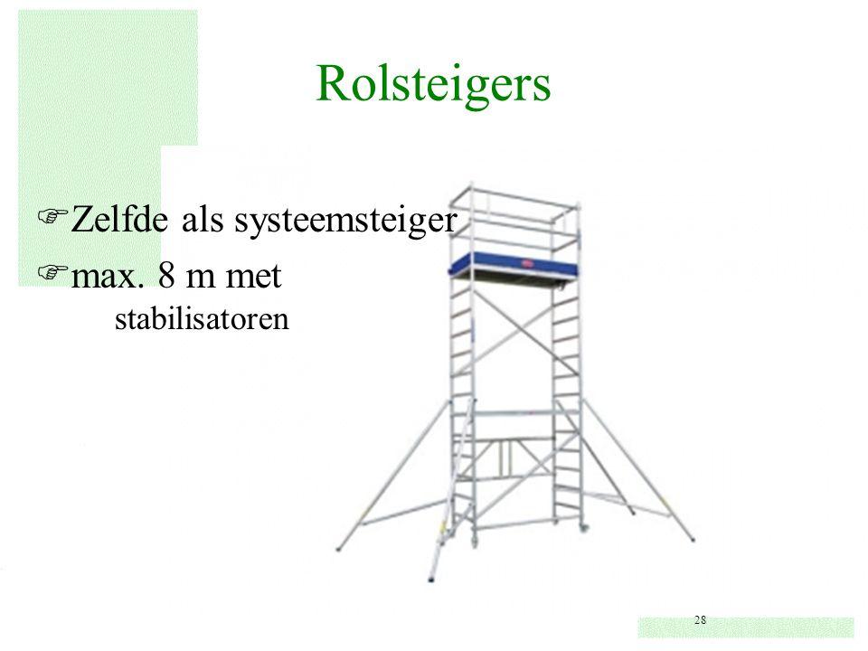 Rolsteigers FZelfde als systeemsteiger Fmax. 8 m met stabilisatoren 28