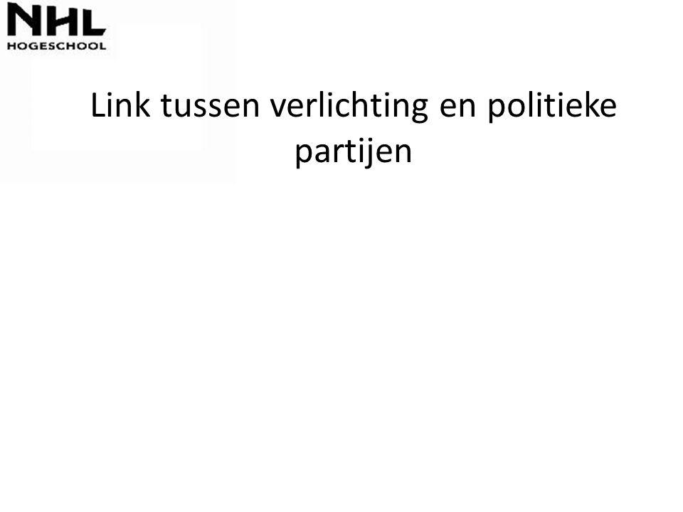 Link tussen verlichting en politieke partijen