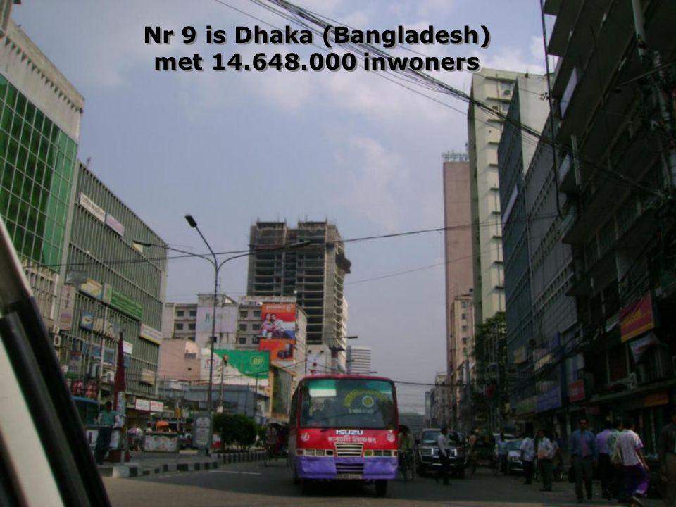 Op nr 10: Karachi (Pakistan) met 13.125.000 inwoners