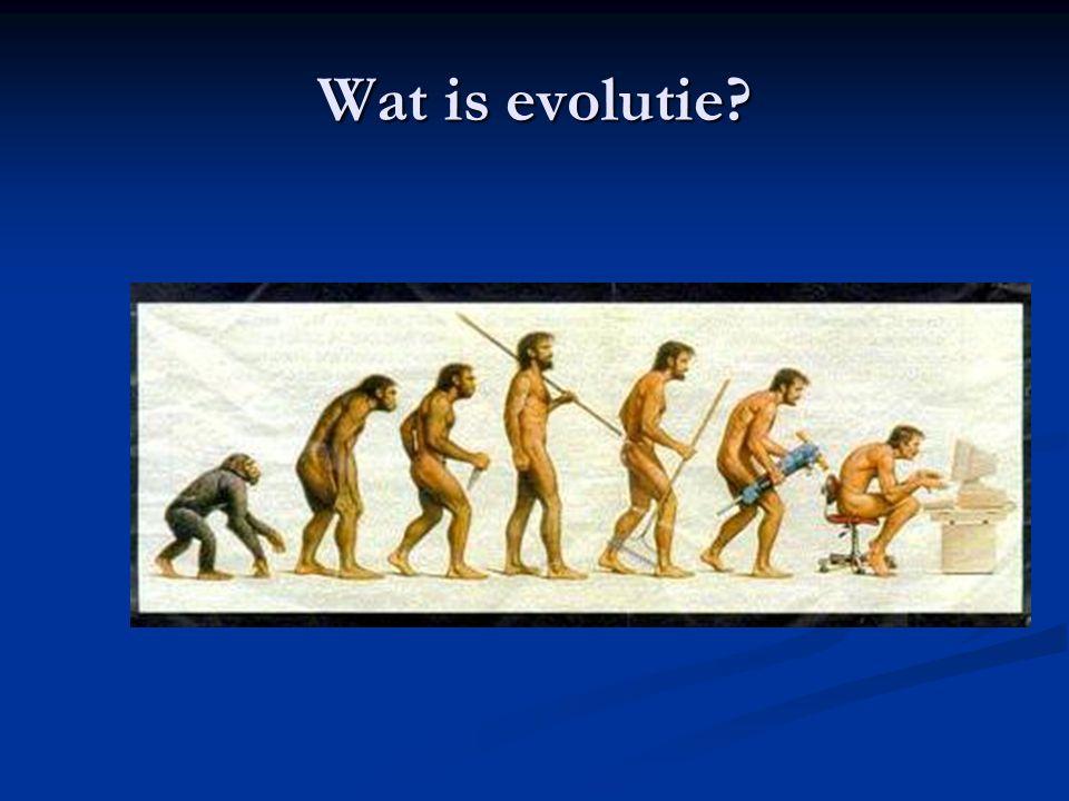 Wat is evolutie?