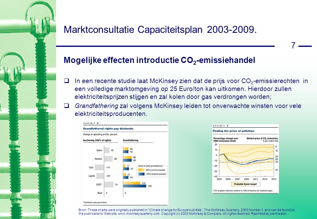 18 Marktconsultatie Capaciteitsplan 2003-2009.