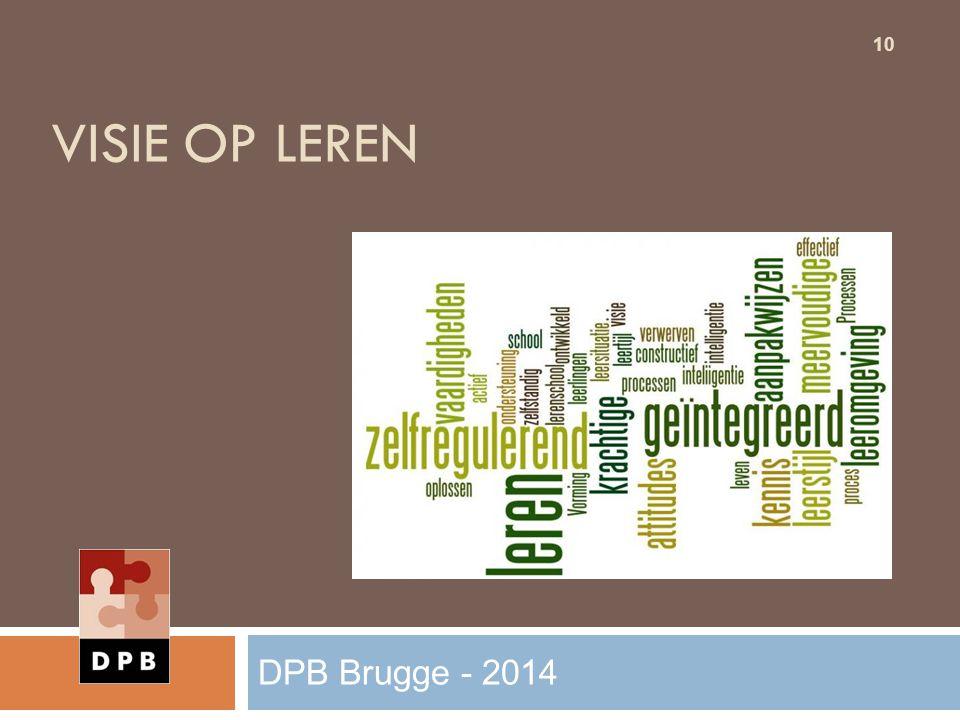 VISIE OP LEREN 10 DPB Brugge - 2014