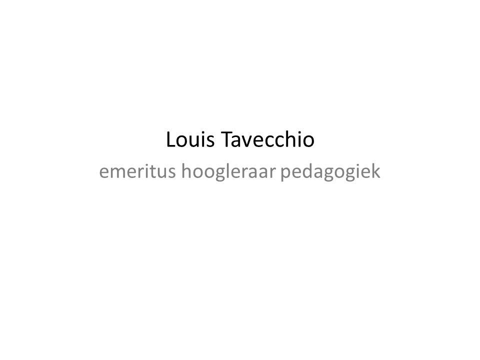 Louis Tavecchio emeritus hoogleraar pedagogiek