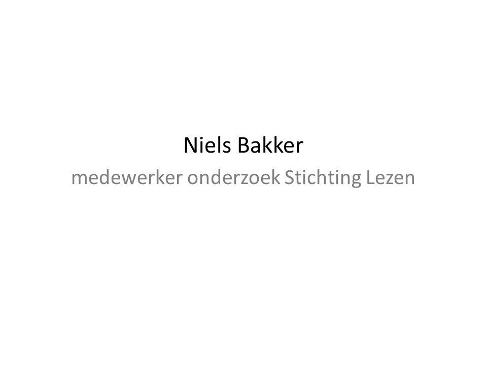 Niels Bakker medewerker onderzoek Stichting Lezen
