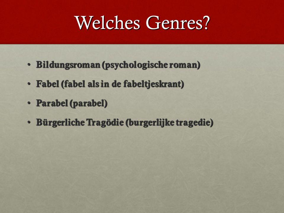 Welches Genres.