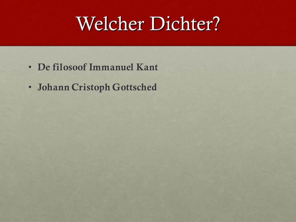 Welches Thema? Geloof Geloof