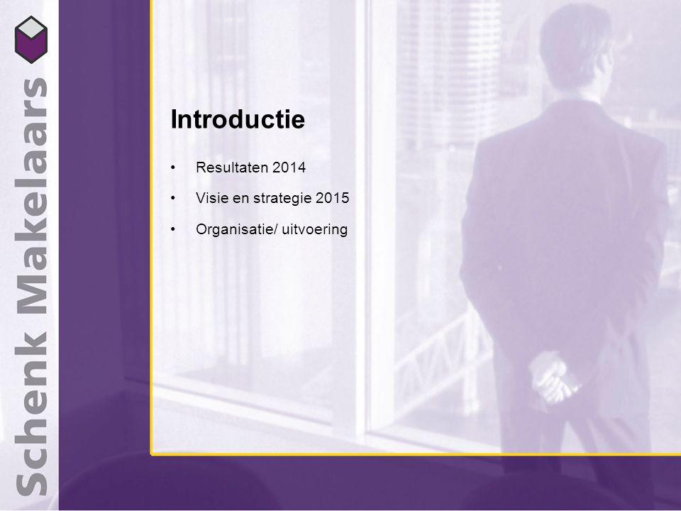 Introductie Resultaten 2014 Visie en strategie 2015 Organisatie/ uitvoering