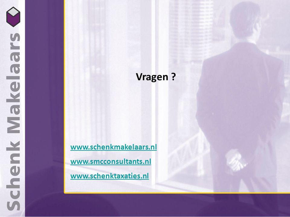 Vragen ? www.schenkmakelaars.nl www.smcconsultants.nl www.schenktaxaties.nl