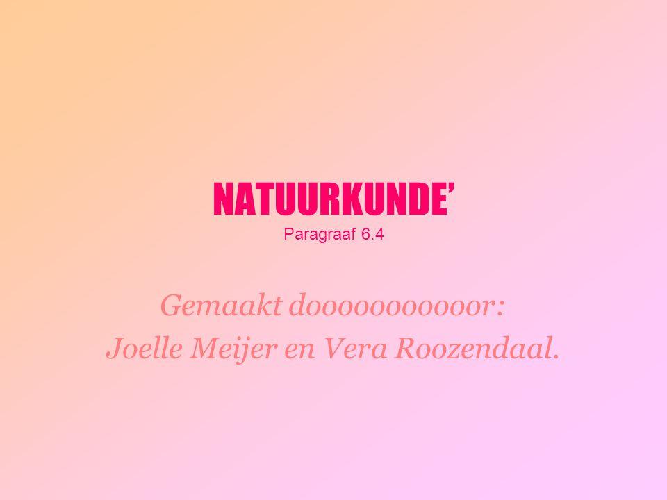 NATUURKUNDE' Paragraaf 6.4 Gemaakt dooooooooooor: Joelle Meijer en Vera Roozendaal.