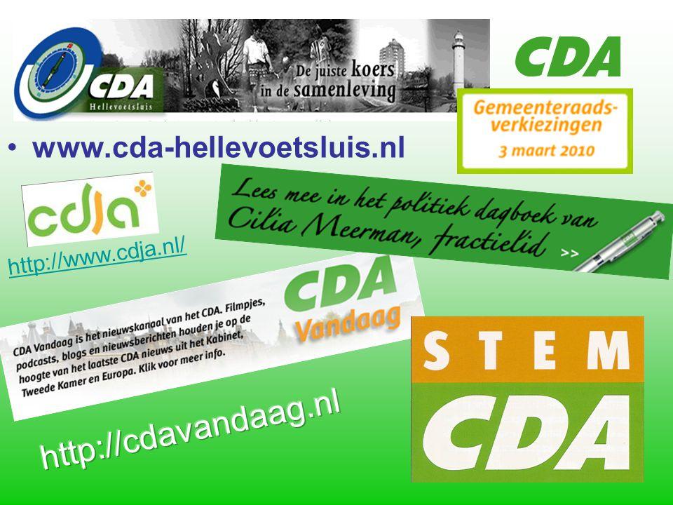 www.cda-hellevoetsluis.nl http://www.cdja.nl/
