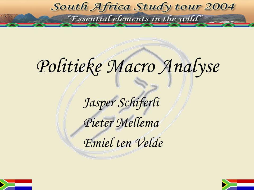 Inleiding: PEST-analyse 'P' Politiek –Nationale politieke factoren –Internationale politieke factoren