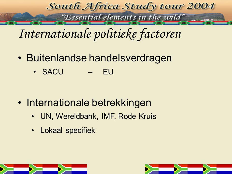Conclusie Zuid-Afrika snel ontwikkelend –Stimulatie door de overheid Investeringen –Voordeliger in Zuid-Afrika –Veiliger in Nederland