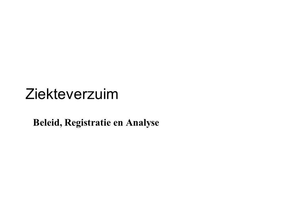 Ziekteverzuim Beleid, Registratie en Analyse