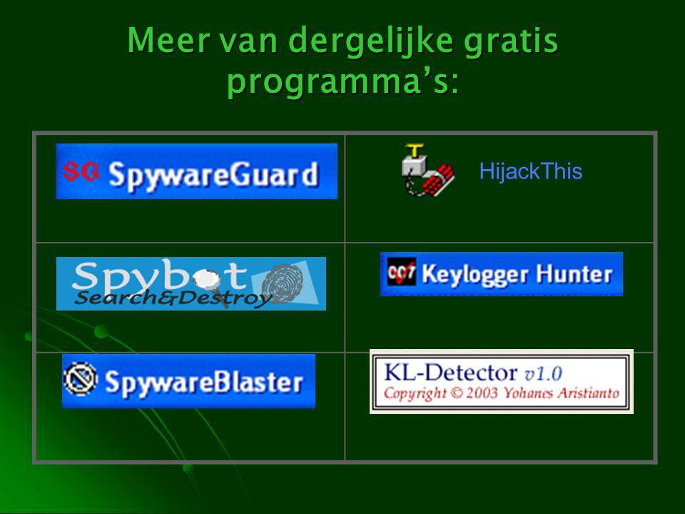 Meer van dergelijke gratis programma's: HijackThis