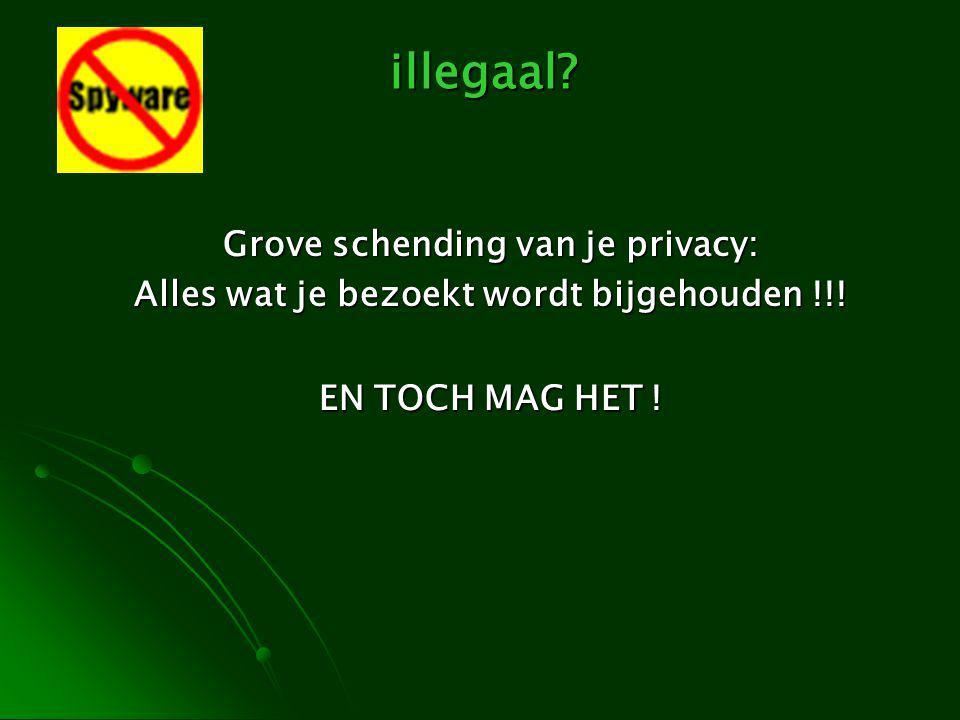 Grove schending van je privacy: Alles wat je bezoekt wordt bijgehouden !!! EN TOCH MAG HET ! illegaal?