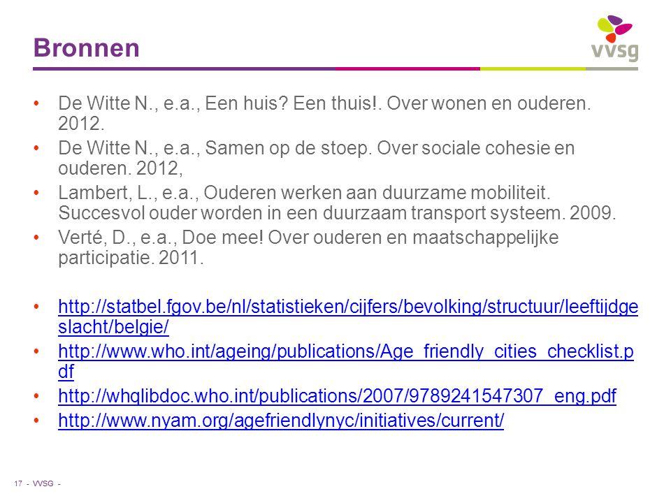 VVSG - Bronnen De Witte N., e.a., Een huis.Een thuis!.