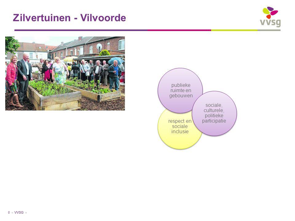 VVSG - respect en sociale inclusie Zilvertuinen - Vilvoorde 8 - publieke ruimte en gebouwen sociale, culturele, politieke participatie