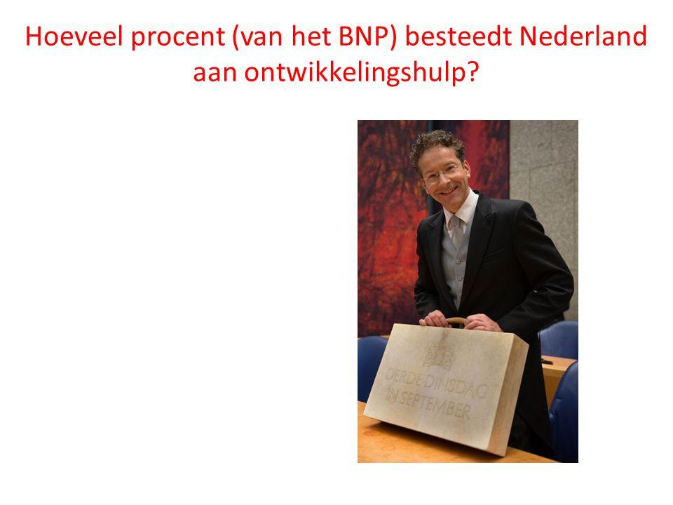 Hoeveel procent (van het BNP) besteedt Nederland aan ontwikkelingshulp?