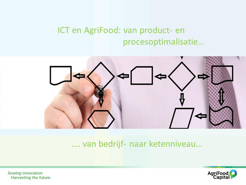 ICT en AgriFood: van product- en procesoptimalisatie… …. van bedrijf- naar ketenniveau…