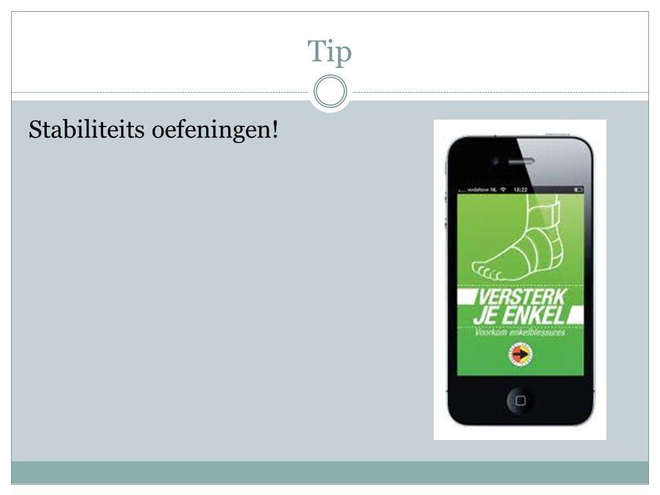 Tip Stabiliteits oefeningen!