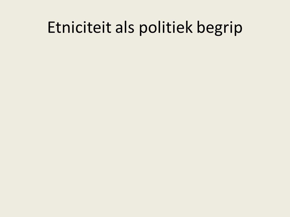 Etniciteit als politiek begrip