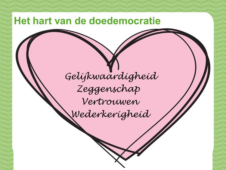 © MOVISIE Het hart van de doedemocratie Gelijkwaardigheid Zeggenschap Vertrouwen Wederkerigheid