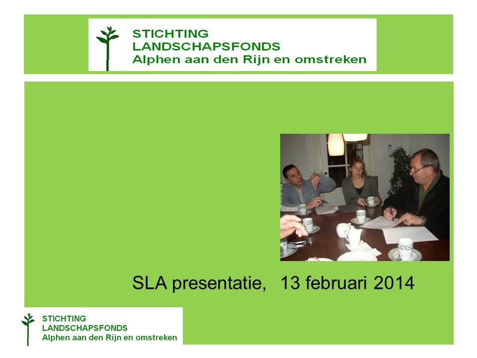 SLA presentatie, 13 februari 2014