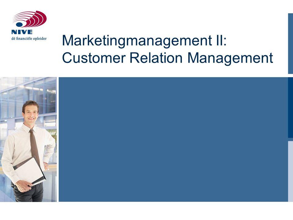 Agenda Dynamiek in commerciële relaties Bestaande- versus nieuwe klantrelaties CRM, motivatoren en CRM procesmodel Case segmenteren en op maat bedienen (Schadex) Multichannel contactprocessen Marketing en IT: Datamining Samenvattende issues 2