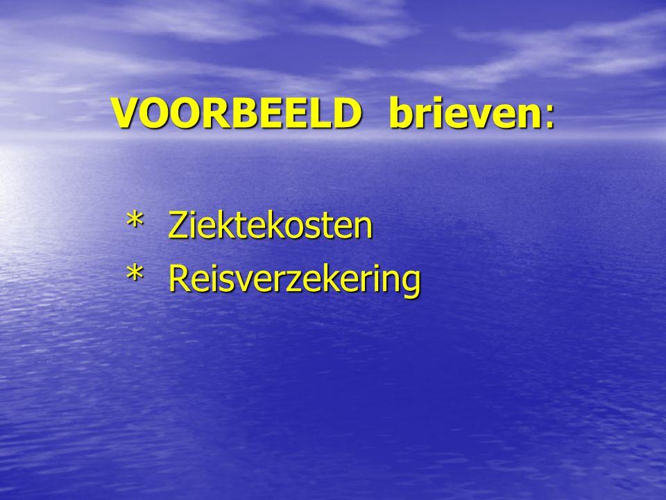 INFORMATIE: * NOB website * Hienfeld verzekeringen * Vragenlijst