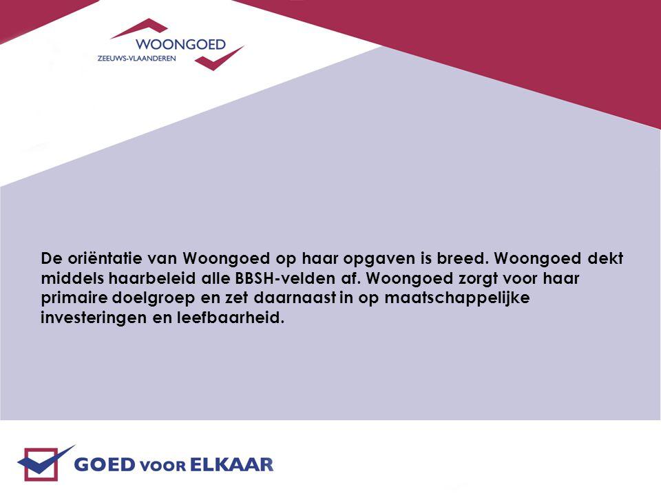 De oriëntatie van Woongoed op haar opgaven is breed.