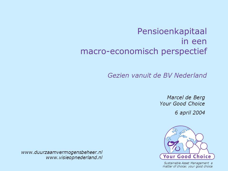 www.duurzaamvermogensbeheer.nl SRI a matter of choice your good choice www.visieopnederland.nl Onderwerpen Waarom macro, wat was en is de aanleiding.